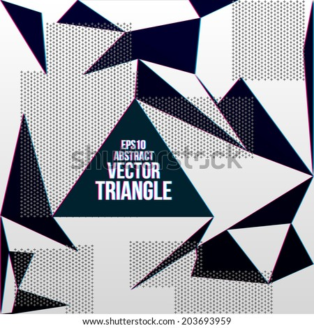 Black and white striped triangles. Vector illustration. - stock vector