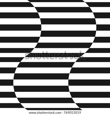 black and white horizontal line patterns for kids