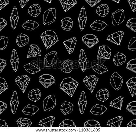 Black White Style Diamonds Background Geometric Stock ...  Black Diamond Pattern Background