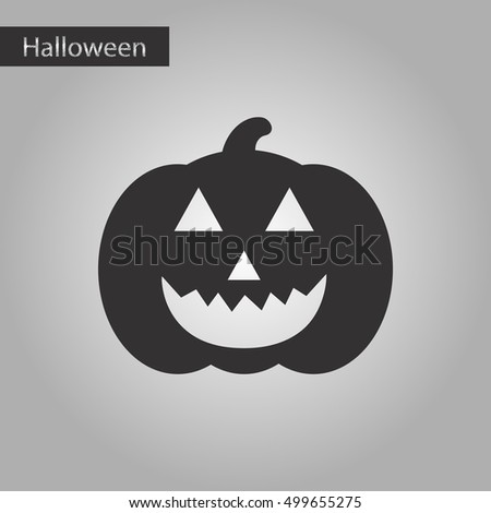 black and white style icon halloween pumpkin