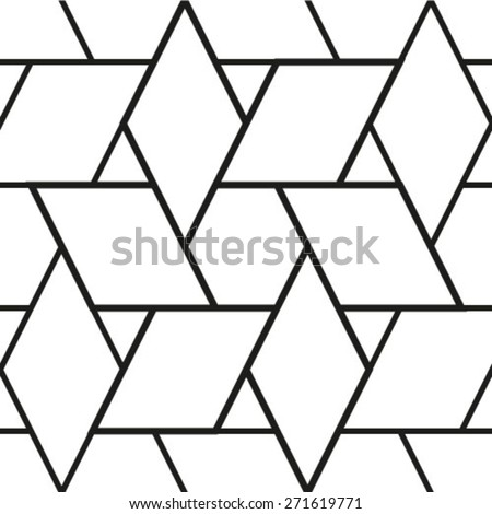 Black and white texture. A seamless vector background. Abstract geometric pattern.  - stock vector