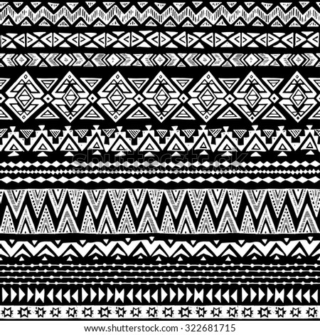 Free Black And White Aztec Background