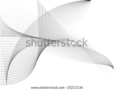 Black and White Vector Background - stock vector