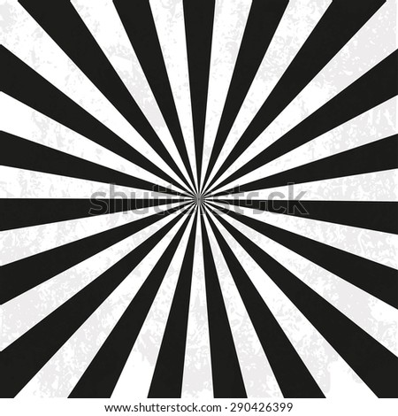 Black and white vector background radiation - stock vector