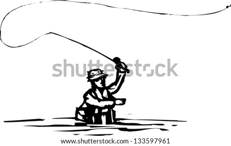 Fly Fisherman Stock Im...