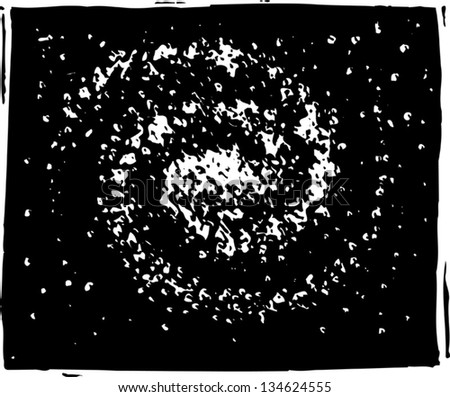 Black and white vector illustration of Solar System - stock vector