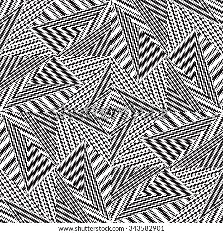 Black and white vector seamless pattern. Abstract background, cloth vector pattern, goose foot - stock vector
