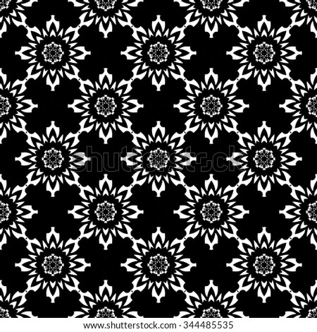 Black and White Vector seamless pattern. Seamless background pattern. Modern stylish texture. Repeating geometric.