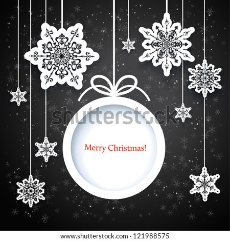 Black and white winter design with space for text - stock vector