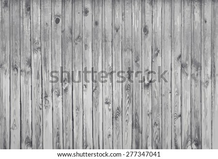 black and white wooden background, old gray wall, vector - stock vector