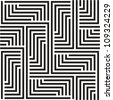 Black and white zigzag pattern - stock photo