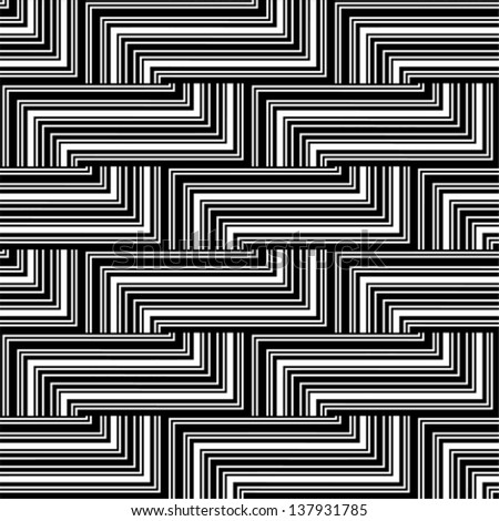 Black and white zigzag pattern - lines