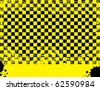 Black and yellow abstract grunge background, vector illustration - stock vector