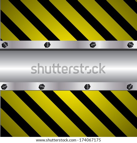 black and yellow metal background