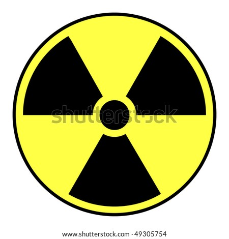 Black and yellow nuclear warning sign.