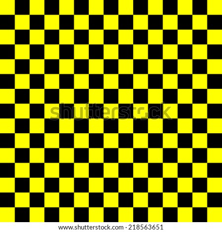 black and yellow squares, repeating in a uniform square - vector - stock vector