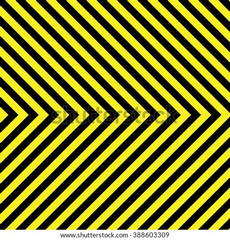 Black and yellow stripes texture - stock vector