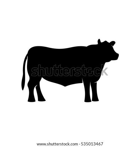 black angus beef bull standing vector stock vector 535013467 shutterstock. Black Bedroom Furniture Sets. Home Design Ideas
