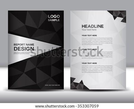 black Annual report Vector illustration,cover design, brochure flyer , template design,booklet,vector illustration,report cover, Abstract background,polygon background, newsletter,poster,leaflet - stock vector
