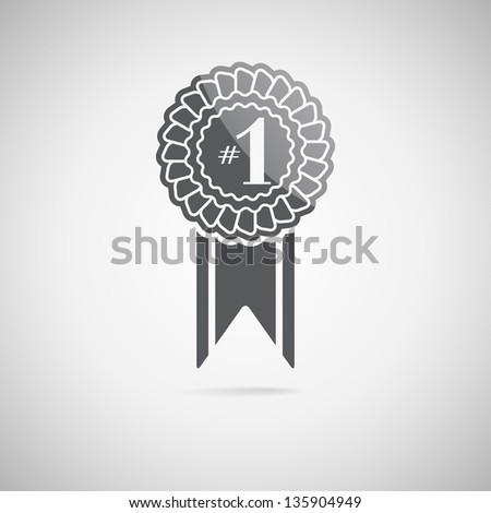 Black award icon, vector illustration - stock vector