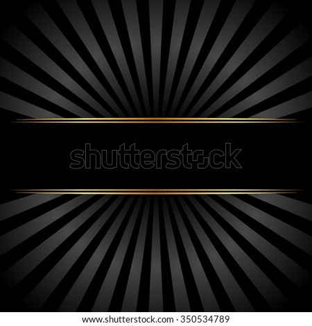 black background with banner - stock vector