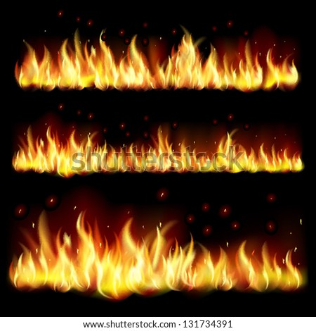 Black background with flame.EPS10. Mesh.This file contains transparency. - stock vector