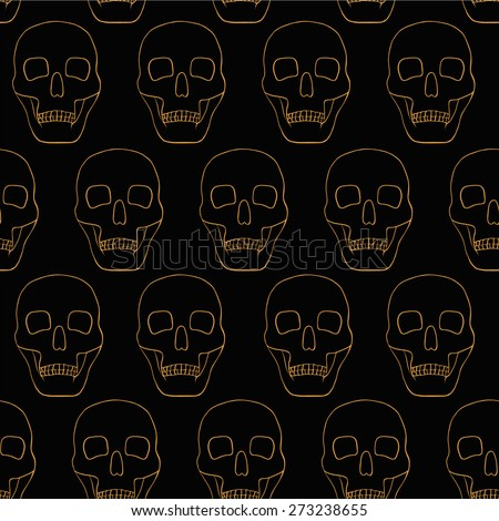 black background with skulls