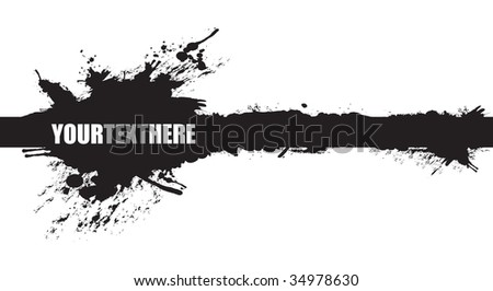 black banner splash - stock vector