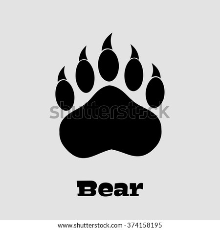bear paw stock images royaltyfree images amp vectors