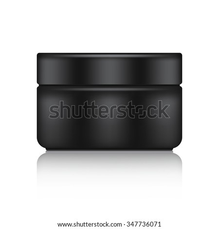 Black Blank Cosmetic Container : Vector Illustration