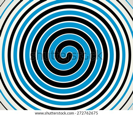 Black-blue duo-tone spiral  element, background. Editable vector - stock vector