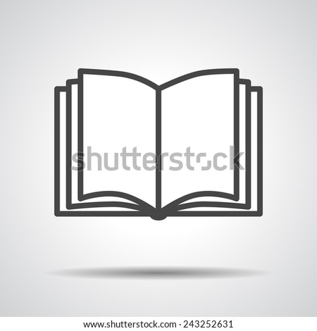 Black book icon isolated on grey background - stock vector