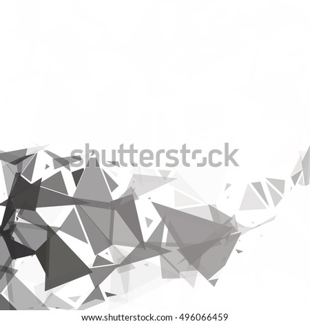 Black Break Mosaic Background, Creative Design Templates