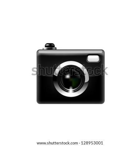 Black camera. - stock vector