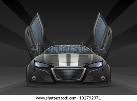 Black car - stock vector