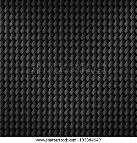 Black carbon seamless pattern with squama symbol, vector, 10eps. - stock vector