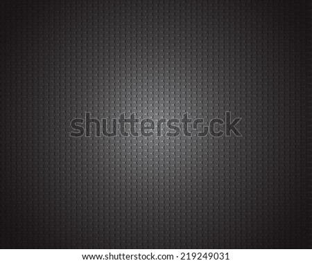 Black carbon texture background - stock vector
