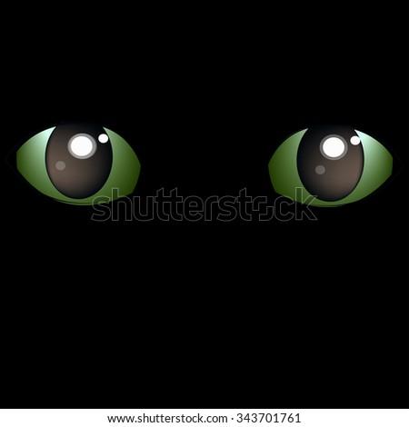black cat eyes(vector) - stock vector