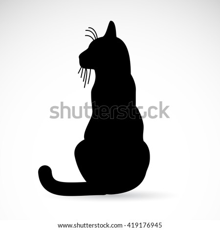 Black cat icon isolated on white background. Vector art. - stock vector
