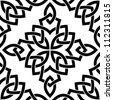 Black Celtic seamless intricate pattern on a white background - stock vector