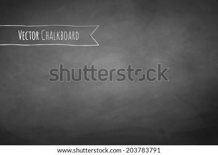 Black chalkboard background.Vector texture. - stock vector