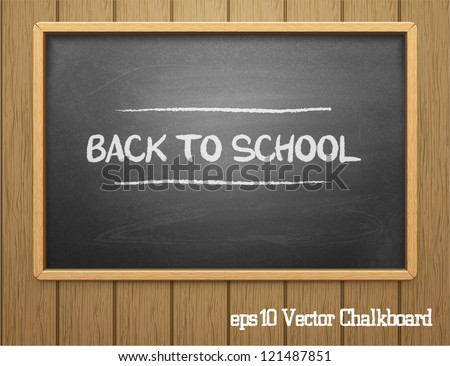 Black chalkboard.Vector - stock vector