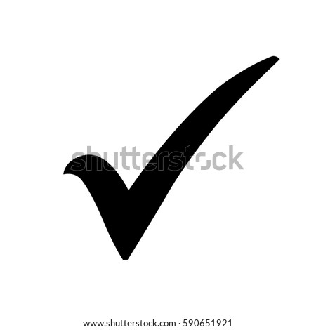 Black Check Mark Icon Tick Symbol Stock Vector 590651921 Shutterstock