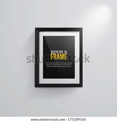 Black classic frame with copy-space for your text or picture. Vector - stock vector
