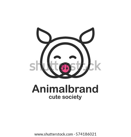 pig logo stock images royaltyfree images amp vectors