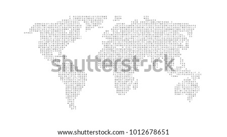 World map alphabet stock images royalty free images vectors black color world map isolated on white background abstract flat template with letters for web gumiabroncs Images