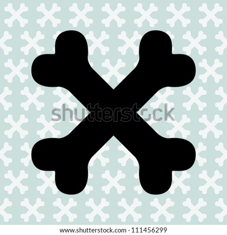 Black Crossbones - stock vector