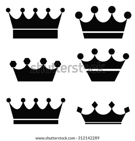 Black Crowns - stock vector