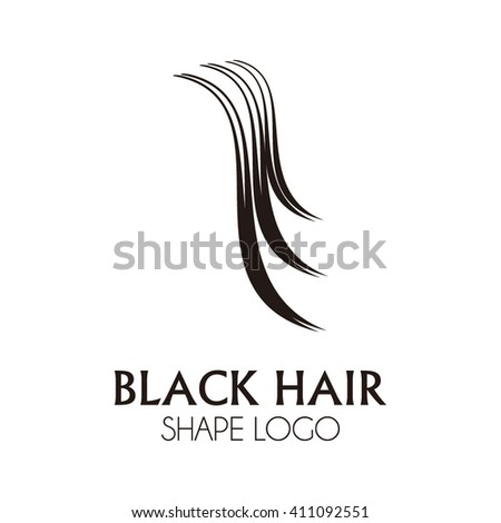 Well-known Black Curve Hair Abstract Vector Logo Stock Vector HD (Royalty  MY87