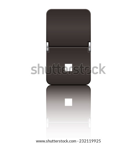 Black departure board letter dot from a series of flipboard letters. - stock vector